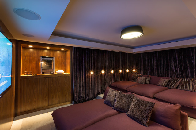 South Miami Townhouse contemporary-home-theater