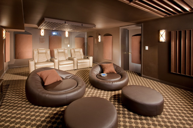 space management modern home theater newark by