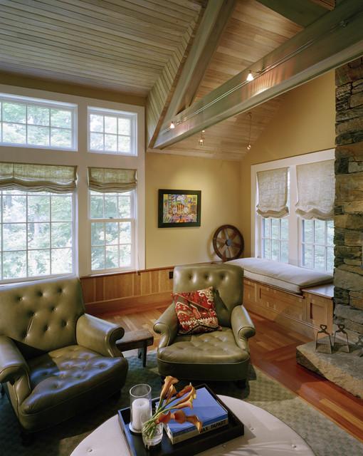 Split Oaks Farm Media Room farmhouse-home-theater