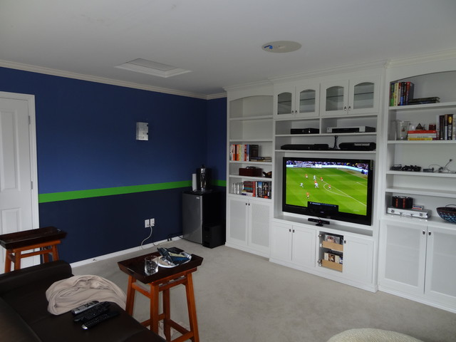 Sport Theme room-Graphic stripes - Contemporary - Home Theater ...