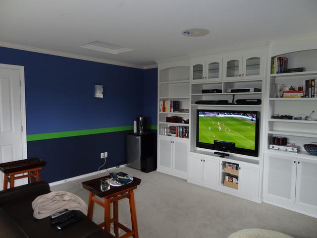 Sport Theme Room Graphic Stripes Contemporary Home