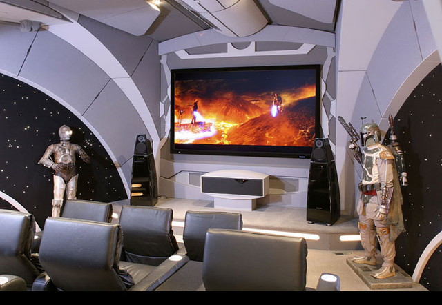 Star Wars Theater - Modern - Home Theatre - Los Angeles - by ... Fireplace Design Home Theatre on home entrance way designs, home septic tank designs, home rooftop deck designs, home garden designs, home internet designs, home great room designs, home backyard designs, home cabana designs, home with bay windows designs, home office designs, home decorating ideas for fireplaces, home countertops, home solarium designs, home covered parking designs, home range designs, home interior design, home dining room designs, home mud room designs, home landscaping designs, home dog kennel designs,