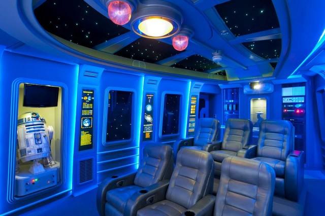 star wars theater room minimalistisch heimkino - Heimkino Wohnzimmer Beleuchtung