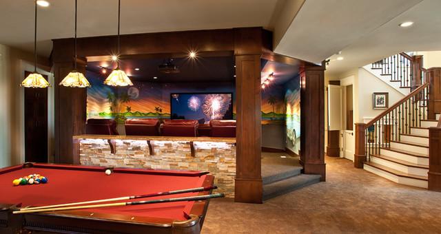 basement pool table living space salt lake city by lane myers