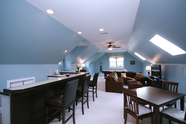 finished attic decorating ideas - Sterling Pointe Redesign Traditional Home Theater