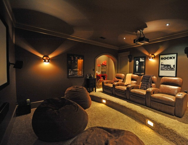 Steve Woolridge Rustic Home Theater Charleston