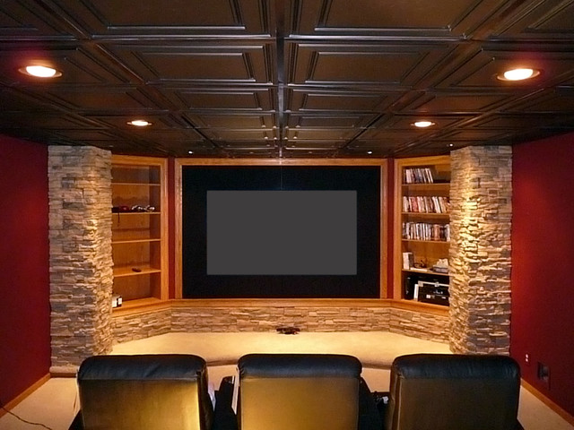 Straford Ceiling Tiles - Home Theater - by Ceilume Ceiling Tiles