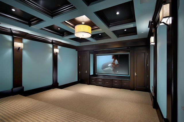 Strand 1 beach-style-home-theater