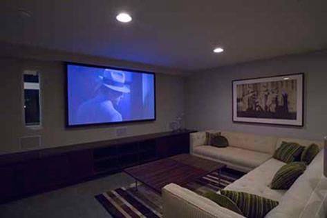 Studio EA | David Hertz Architects Inc. modern-home-theater
