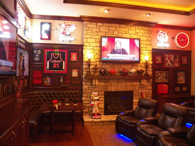 gallery for home sports bar design