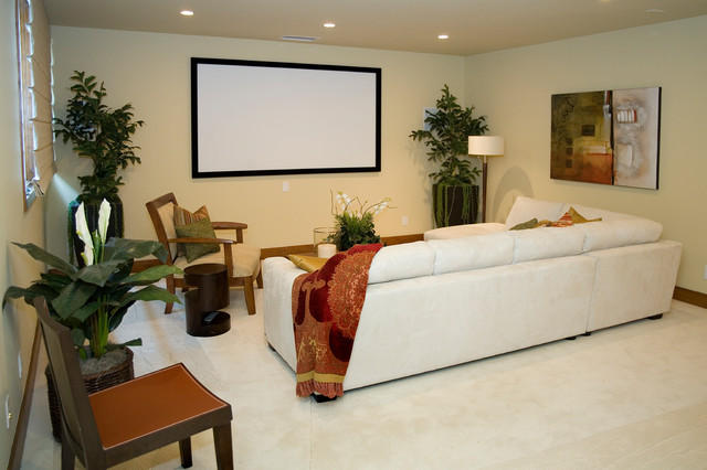 Sweeney Residence modern-home-theater