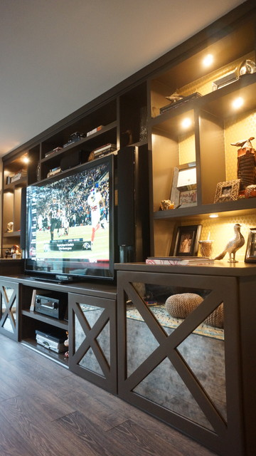 Tarrytown Remodel eclectic-home-theater