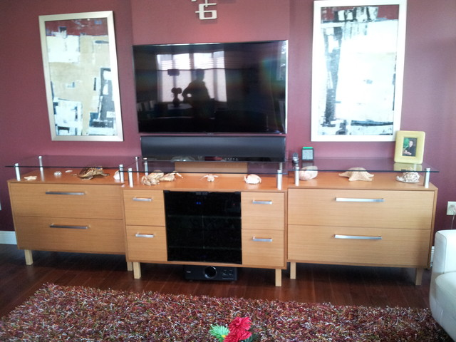 tv cabinet teak entertainment center 27339