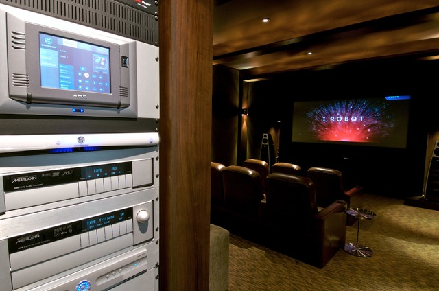 Temple Digital Meridian Theater contemporary-home-theater