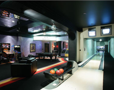 The Basement Hangout contemporary-home-theater