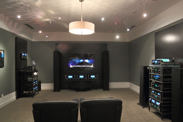 The Century Stereo Showroom modern-home-theater