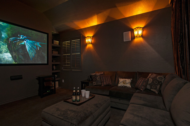 The Murietta Plan at Sienna Plantation - Kennet Hill / The Forest | Houston, TX traditional-home-theater