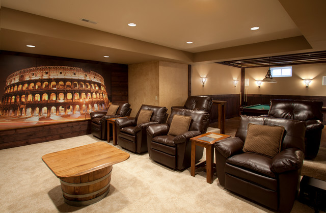 The Ultimate Bachelor Pad Traditional Home Theater