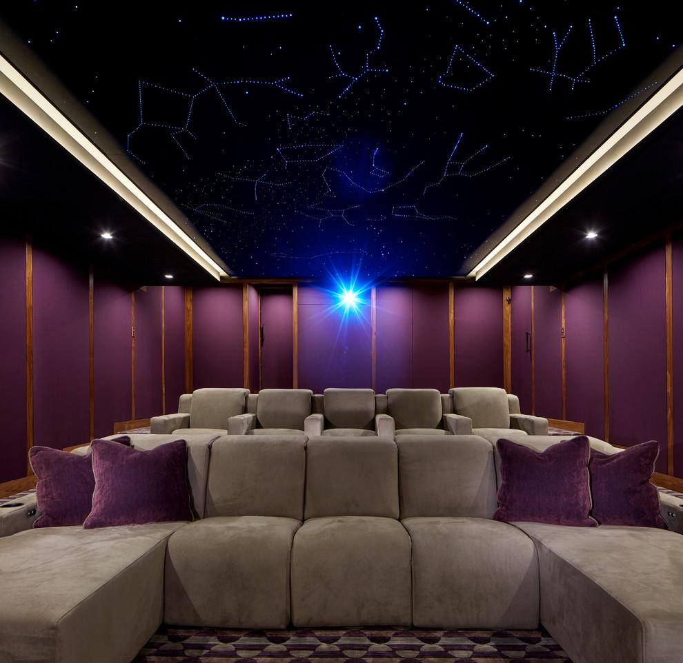 Minimalist home theater photo in New York
