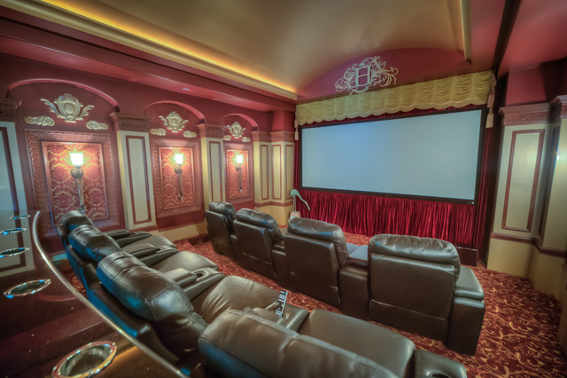 Theater Mediterranean Home Theater Houston By