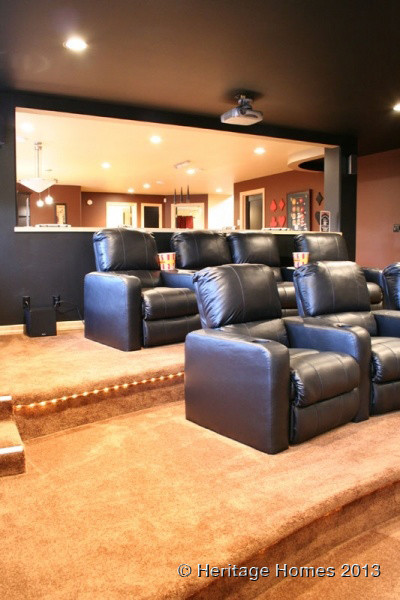 Theater Rooms contemporary-home-theater