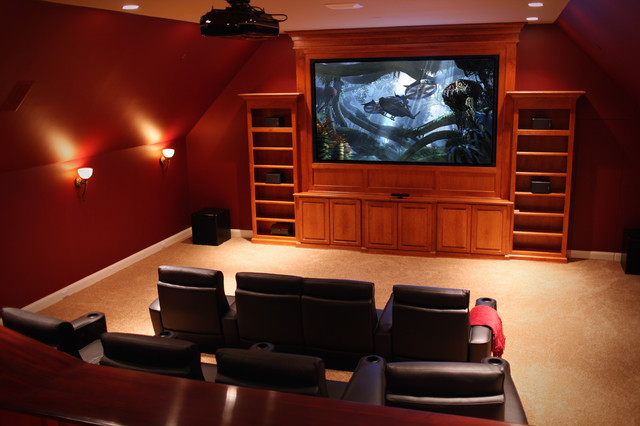 Theatre Room contemporary-home-theater