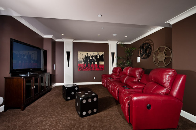 theatre room contemporary media room