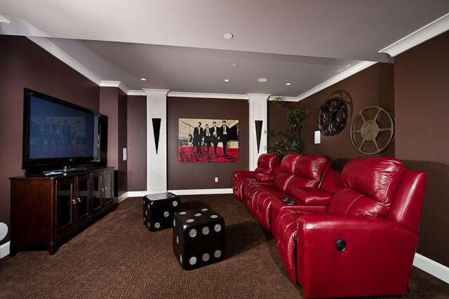 theatre room contemporary-home-theater