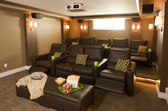 Timeless Revival traditional-home-theater