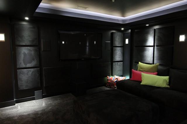 Small space bathroom vanities - Tony S Black On Black Cinema Contemporary Home Theater