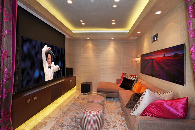 Townsend Theater Room Contemporary Home Theater