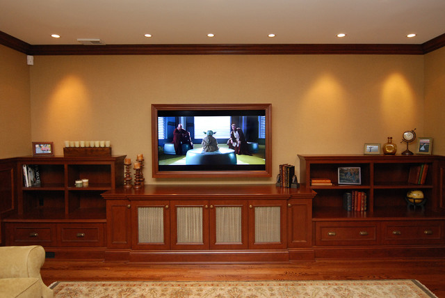 traditional media room by AMI Designs