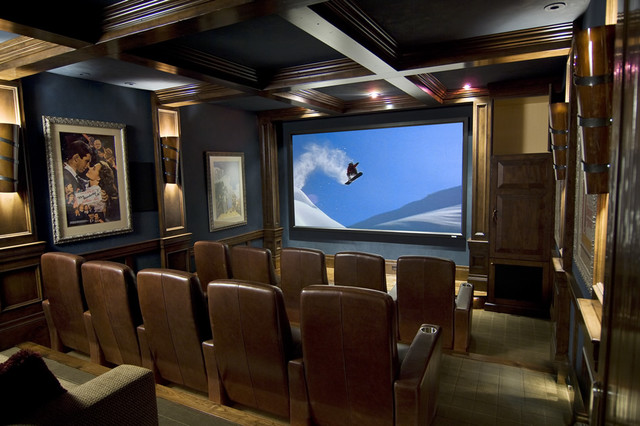 casa nova screening room traditional home theater denton house design studio on pinterest
