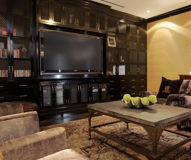 Traditional Media Room traditional-home-theater