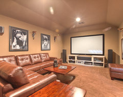 Elegant, classic and expansive design traditional media room