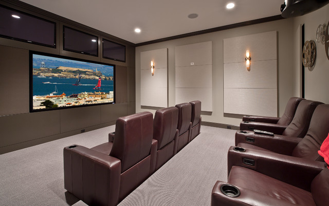 Transitional Zen By Design Guild Homes Fusion Home Theatre