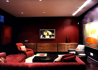 Tribeca Loft modern-home-theater