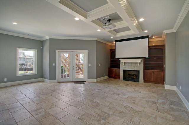 Trya Family Basement Remodel traditional-home-theater