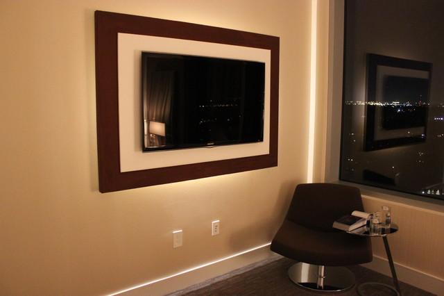 TV Backboards Modern Home Theater Houston By