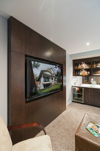 Tv Cabinet Transitional Home Theater Vancouver By