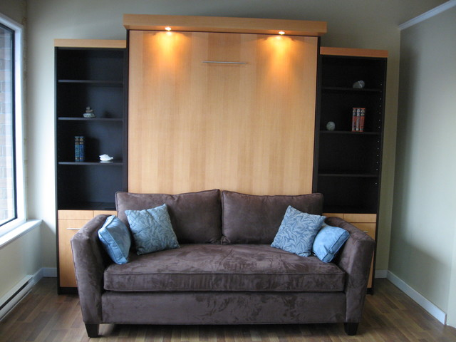 Tv On Murphy Bed Contemporary Home Theater