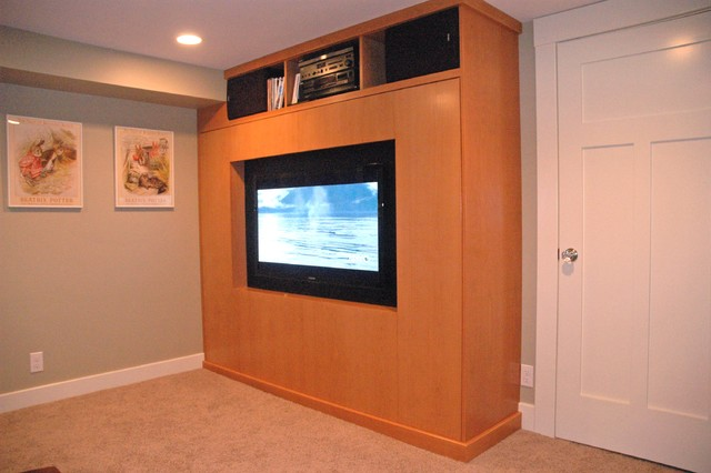 Tv Wall Bed Home Theater Seattle
