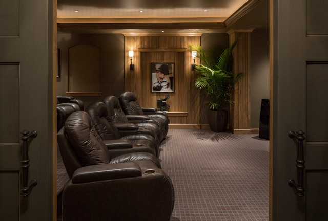 Twelve Oaks traditional-home-theater