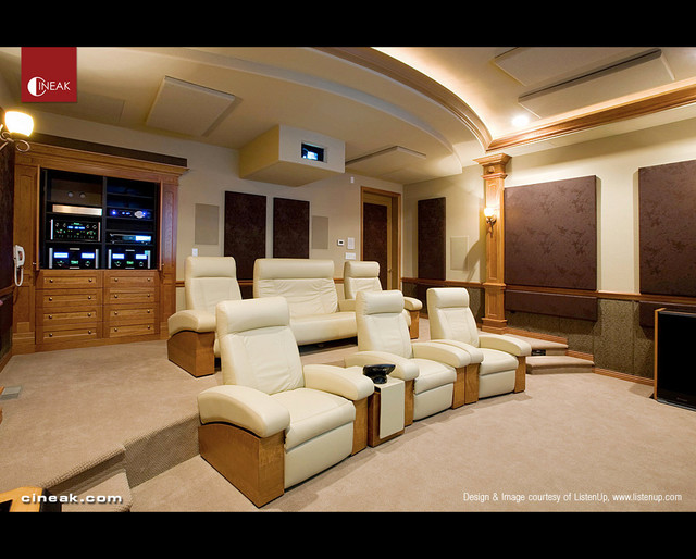 Delicieux Ultimate Home Theater With Cineak Seats Contemporary Home Theater