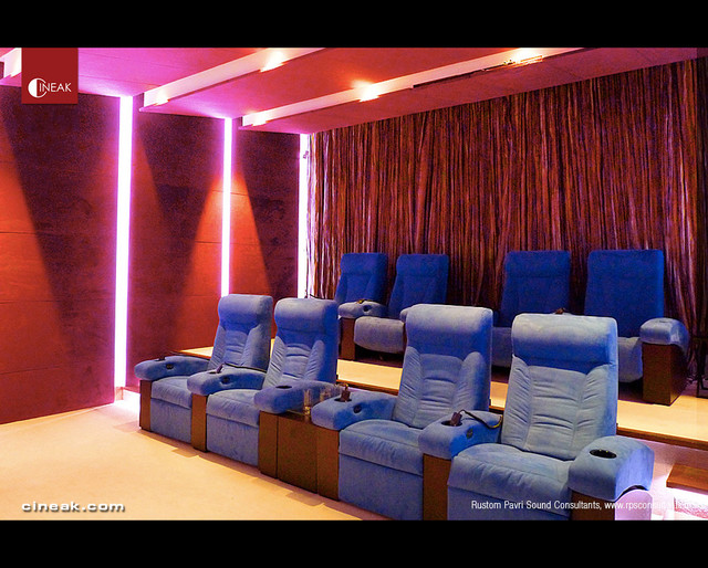 Ultra Modern Home Theater By Rustom Pavri Sound Consultants Eclectic Home  Theater