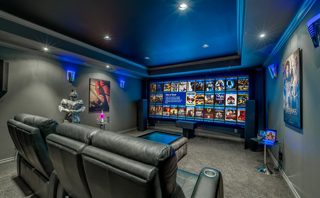 Updated Modern Jewel box - Contemporary - Home Theater ...