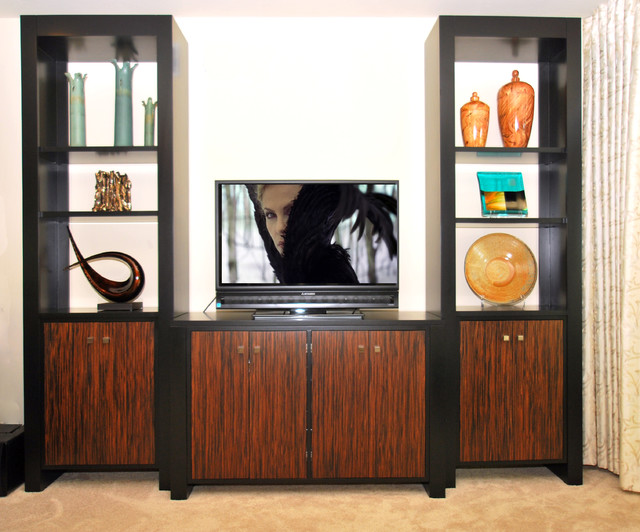 Versatile media cabinet contemporary home theater for Interior designs by vickie