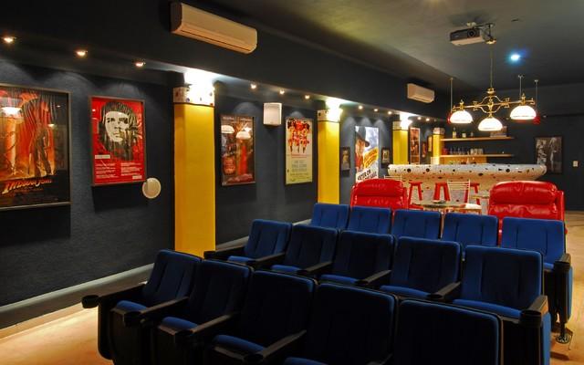 Villa Balboa eclectic-home-theater