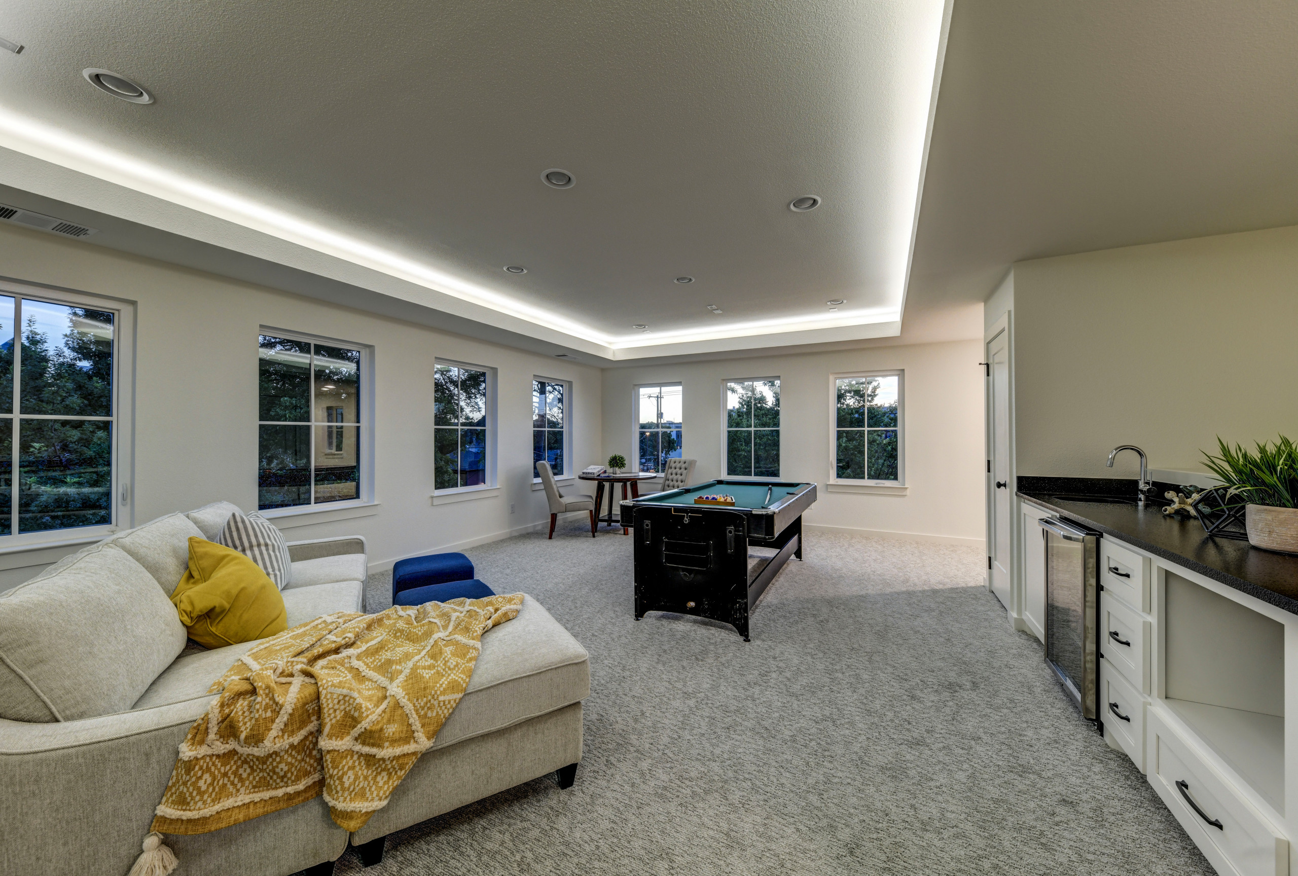 Family Room, Game Room, Movie Room, Entertainment Room