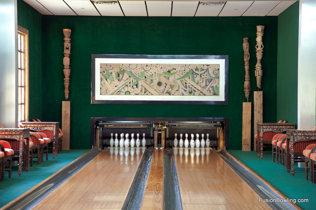Vintage Custom Bowling Alley For Vacation Estate S